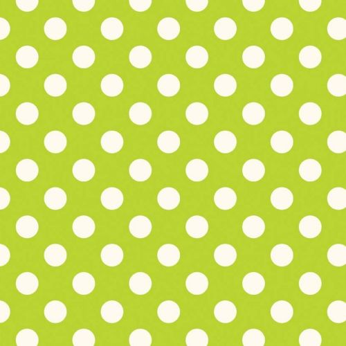 "Riley Blake - Dots (Lime/Antique)   3/4"" (1.75cm) spot Fabric"